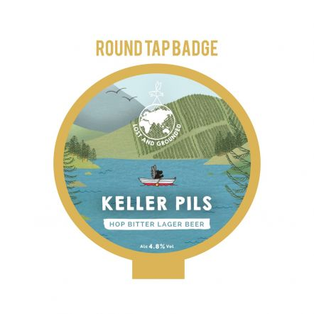 Lost and Grounded Keller Pils Tap Badge