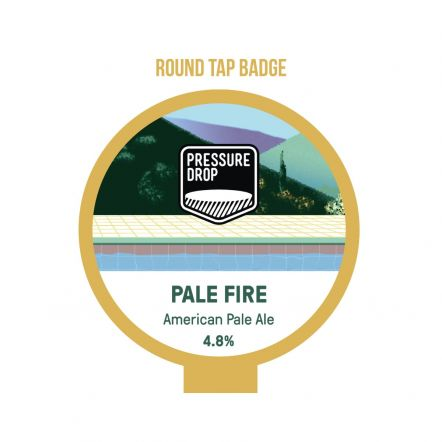 Pressure Drop Pale Fire Tap Badge